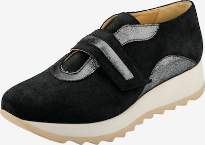 heine Sneaker in silbergrau / schwarz, Produktansicht