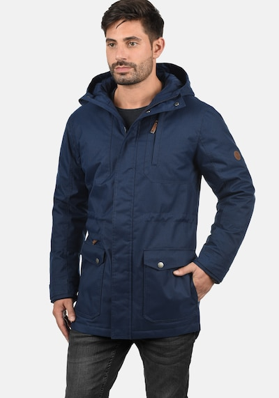 !Solid Winterjacke 'Bello Long' in dunkelblau, Produktansicht