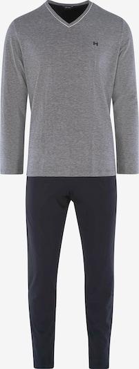 """HOM Langes Pyjama Set ' """"Onyx"""" ' in schwarz, Produktansicht"""