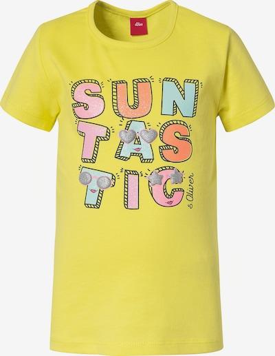 s.Oliver T-Shirt in hellblau / gelb / orange / rosa, Produktansicht