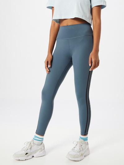 ADIDAS PERFORMANCE Sporthose in taubenblau / schwarz, Modelansicht