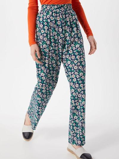 ESPRIT Hose 'palazzo pant Pants woven' in navy / mischfarben, Modelansicht