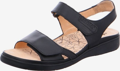 Ganter Sandalen in schwarz: Frontalansicht