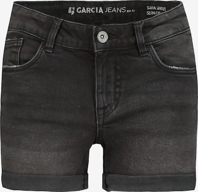 GARCIA Jeansshorts in black denim, Produktansicht
