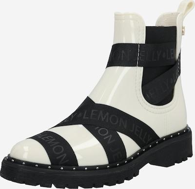 Guminiai batai 'FRANKIE' iš LEMON JELLY , spalva - kremo / juoda, Prekių apžvalga