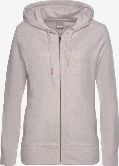 BENCH Loungejacke mit Kapuze und Zipper in beigemeliert, Produktansicht