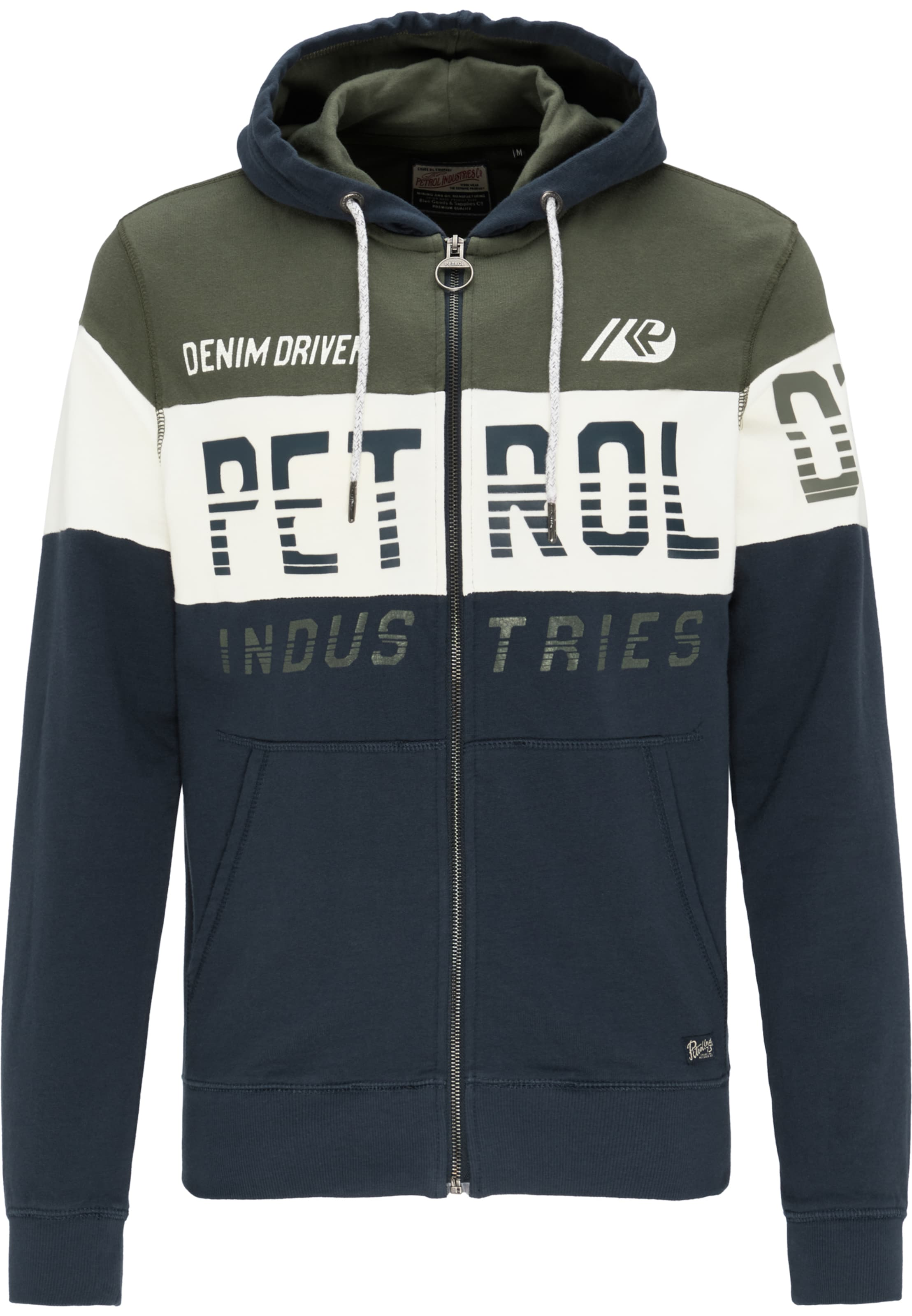 Sweatshirt NachtblauOliv Petrol Industries Weiß In Rcjq5A34L