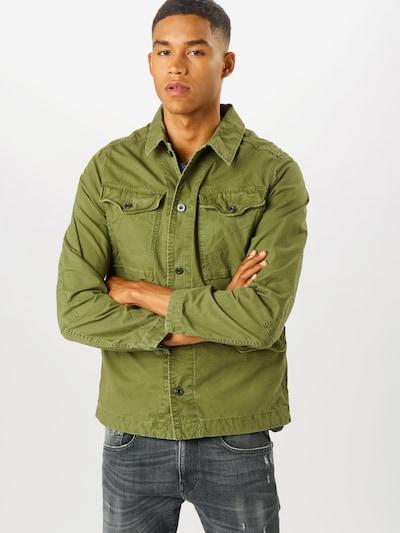 G-Star RAW Jacke 'Vodan Worker Overshirt' in oliv, Modelansicht
