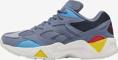 Reebok Classic Sneaker in blau / gelb / apricot / rot / schwarz / weiß: Frontalansicht