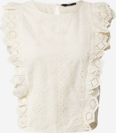 ONLY Blouse 'ONQLILLI SL BRODERIE ANGLAIS DNM' in de kleur Beige, Productweergave