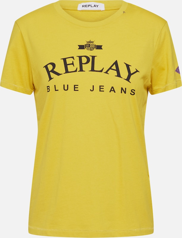REPLAY Shirt in gelb, Produktansicht