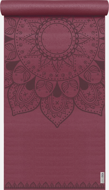 YOGISTAR.COM Yogamatte Basic Art Collection Harmonic Mandala in rot / bordeaux, Produktansicht