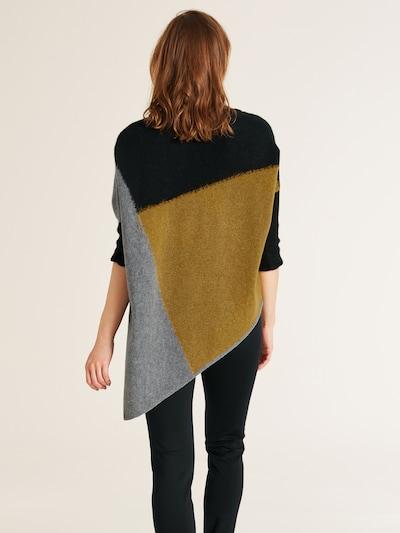 heine Pullover in grau / oliv / schwarz: Rückansicht