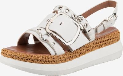 JOLANA & FENENA Sandale in beige / weiß, Produktansicht
