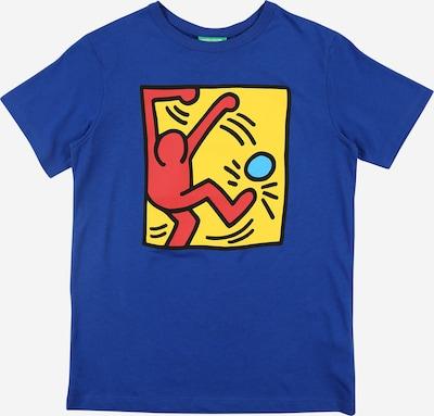 UNITED COLORS OF BENETTON T-Shirt in hellblau / dunkelblau / gelb / orange, Produktansicht