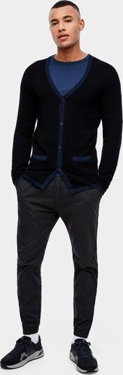 s.Oliver Strickjacke in blau / schwarz, Produktansicht