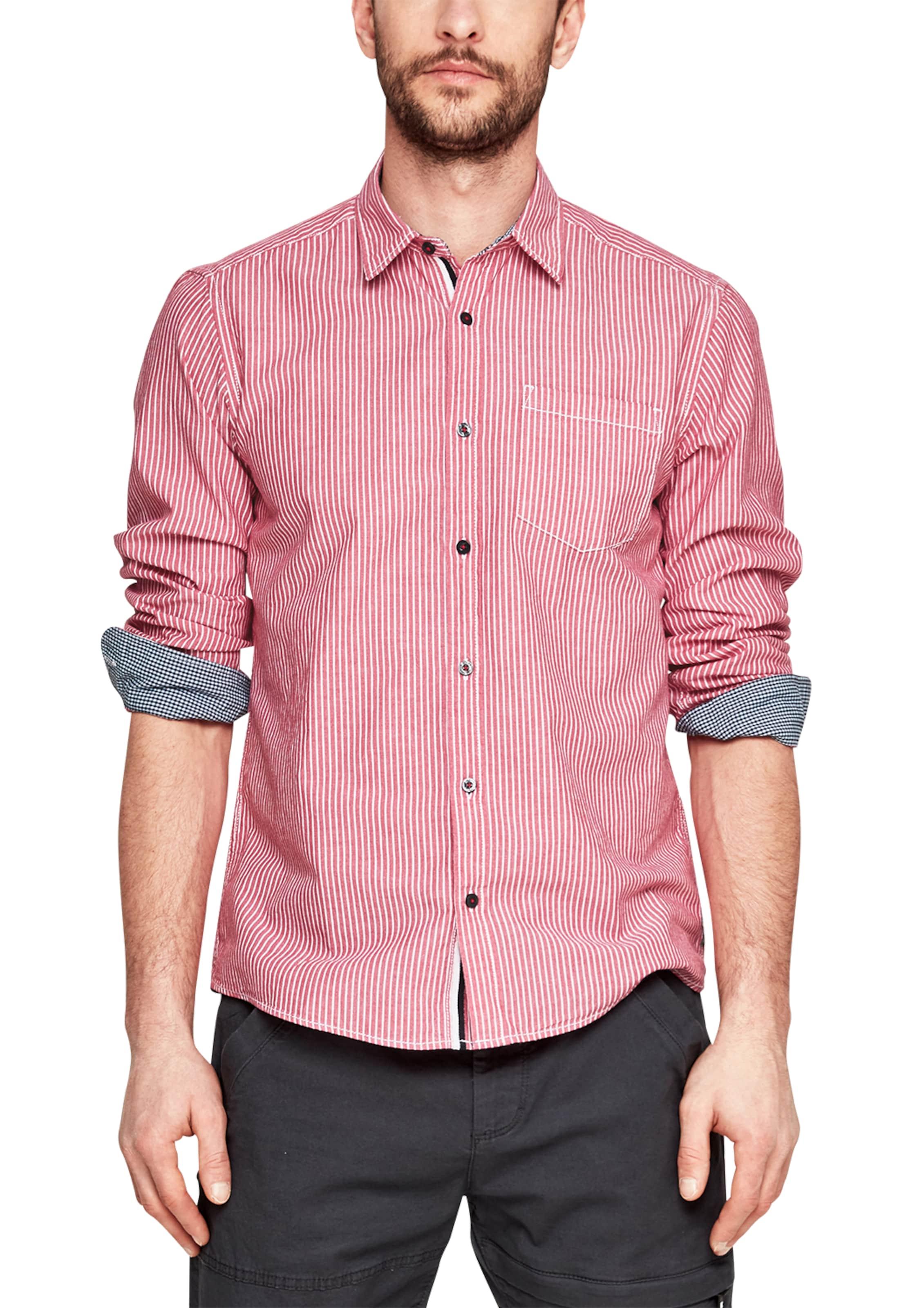 Verkauf Großer Verkauf s.Oliver RED LABEL Regular: Hemd mit Längsstreifen Auf Heißen Verkauf Empfehlen Günstigen Preis Rabatt-Shop Für Perfekt e6ymo50yV