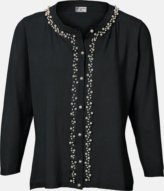 Heine Cardigan mit Perlenbesatz Perlenbesatz Perlenbesatz in schwarz  Große Preissenkung 7bd9dc