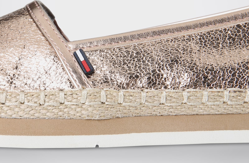 Tommy Jeans | Loafer in Metallic-Optik Schuhe Gut getragene Schuhe