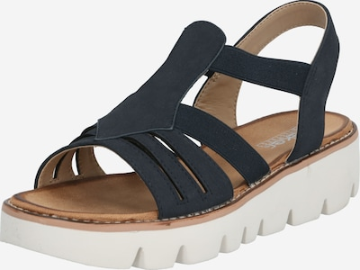 RIEKER Sandale in dunkelblau / weiß, Produktansicht