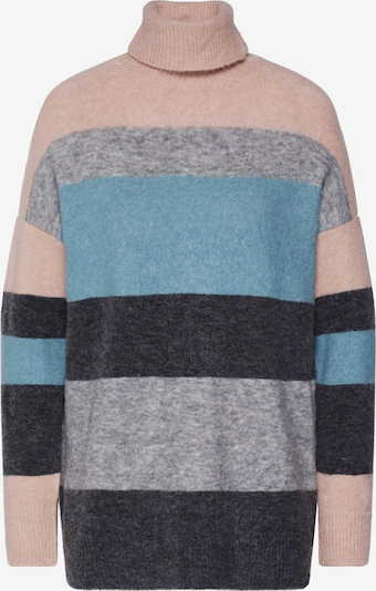 BRUUNS BAZAAR Trui 'Holly Kathys Knit' in de kleur Lichtblauw / Rosa, Productweergave