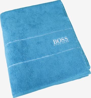 BOSS Home Towel 'Plain' in Blue