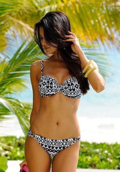LASCANA Bikinitop 'Grace' in schwarz / weiß, Modelansicht