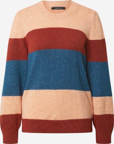 Pullover Trendyol di colore blu pastello / rosa / rosso ruggine, Visualizzazione prodotti