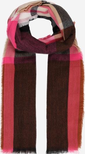 ONLY Sjaal 'HENRY' in de kleur Bruin / Pink / Zwart, Productweergave