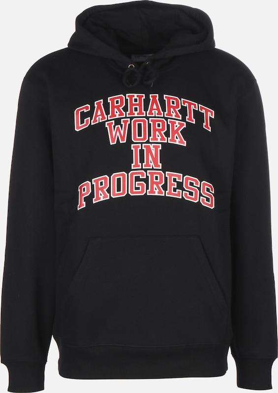 Carhartt WIP Hoodie in rot   schwarz   weiß  Großer Rabatt