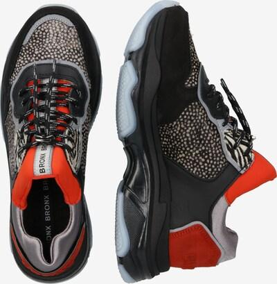 Sportbačiai be auliuko 'Baisley' iš BRONX , spalva - raudona / juoda: Vaizdas iš šono