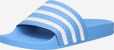 ADIDAS ORIGINALS Badeschuhe in hellblau / weiß, Produktansicht