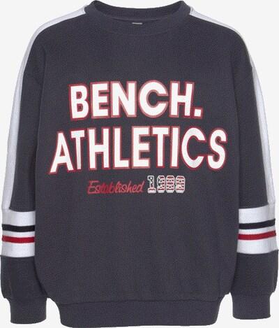 BENCH Sweatshirt in marine / rot / weiß, Produktansicht