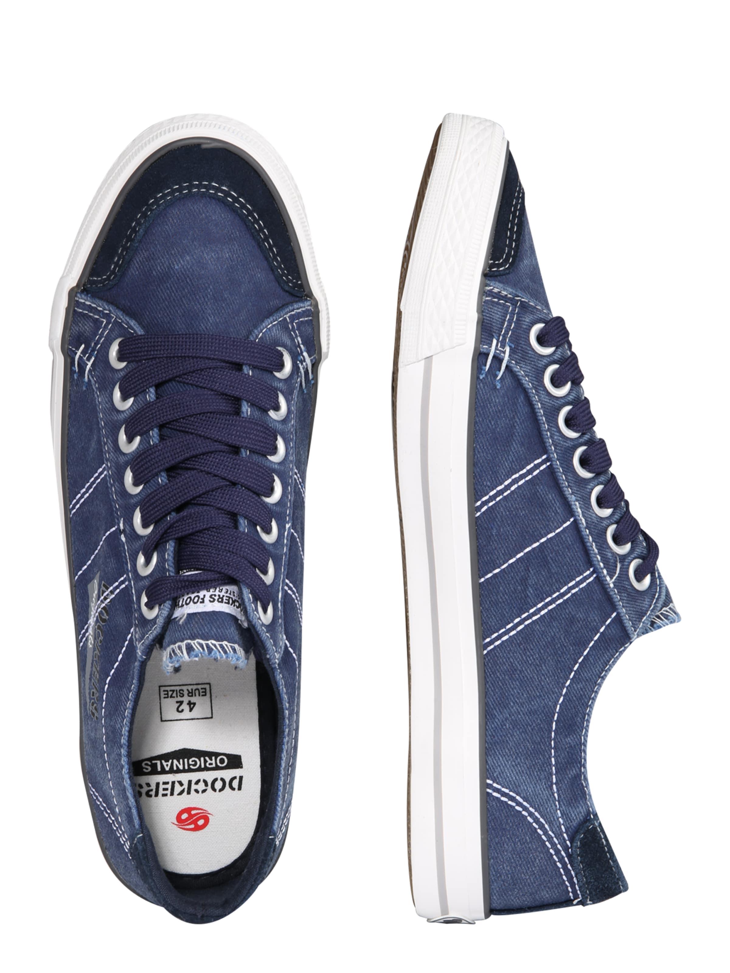 By In Slipper Im style NavyWeiß Sneaker Gerli Dockers eEY2IWDH9