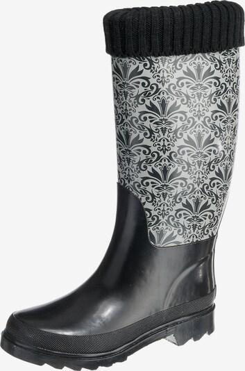 BECK Gummistiefel 'Elegance' in schwarz / weiß, Produktansicht