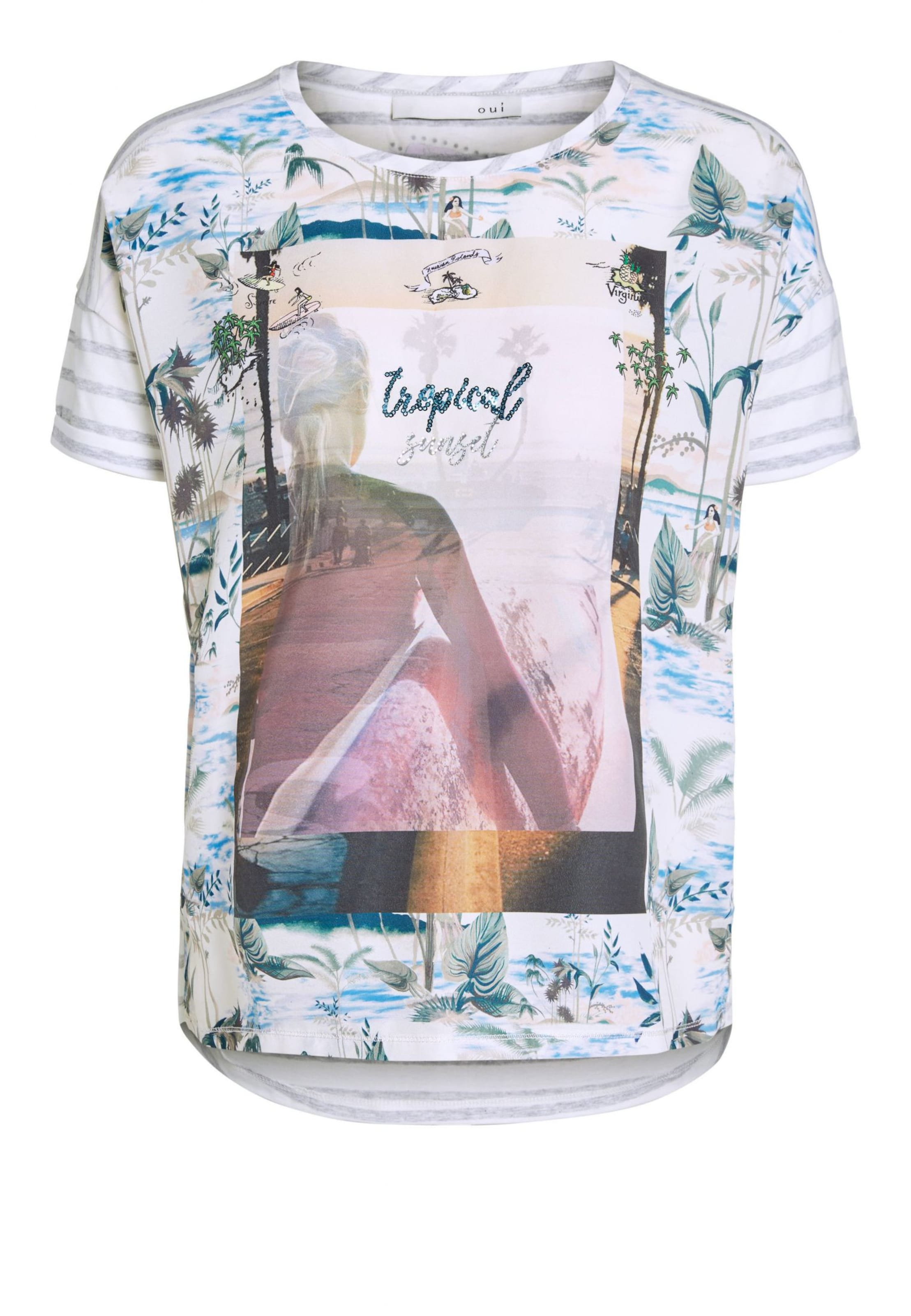 Oui T Oui In MischfarbenWeiß shirt T shirt In lFKc1JuT3