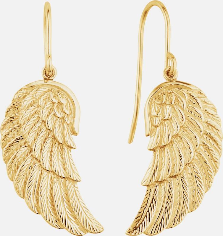 Engelsrufer Paar Ohrhaken, 'Flügel, ERE-WING-G'