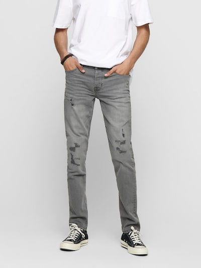 Only & Sons Jeans in grey denim: Frontalansicht