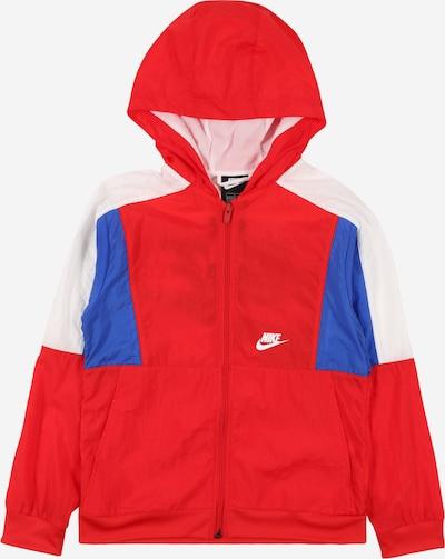 Nike Sportswear Jacke in royalblau / rot / naturweiß, Produktansicht