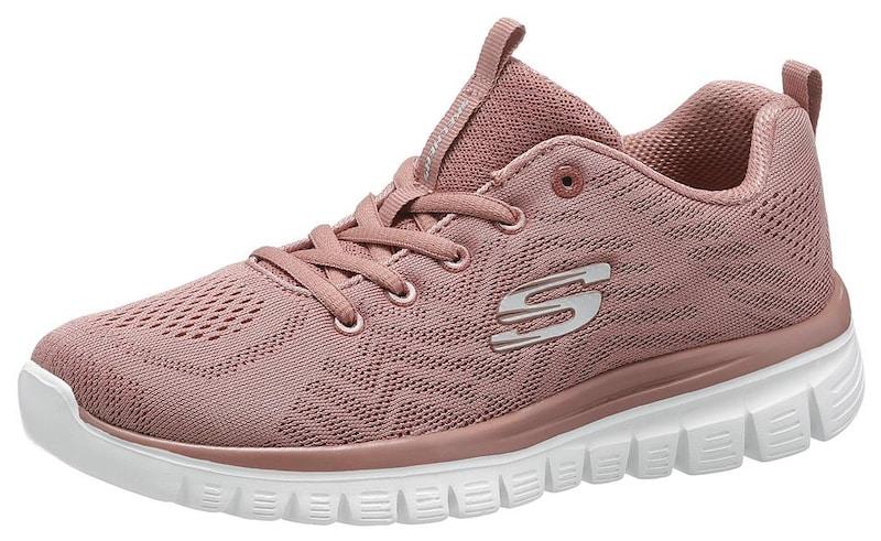 SKECHERS Sneaker 'Graceful Get Connected' in mauve