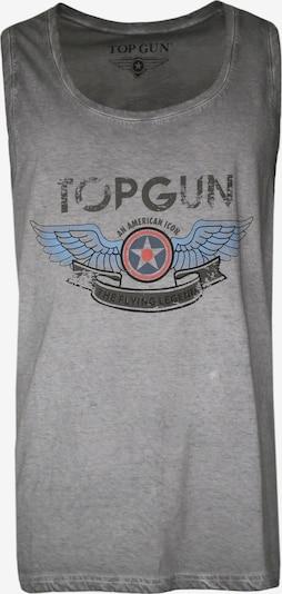 TOP GUN Tank Top mit Aufdruck ' Flap ' in grau, Produktansicht