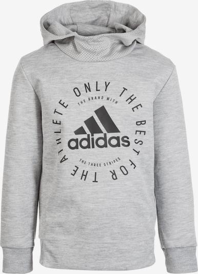 ADIDAS PERFORMANCE Kapuzenpullover 'Sport ID' in graumeliert / schwarz, Produktansicht