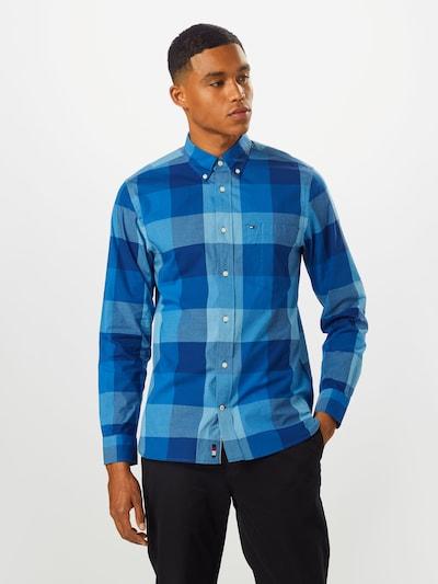 TOMMY HILFIGER Hemd in blau / dunkelblau: Frontalansicht
