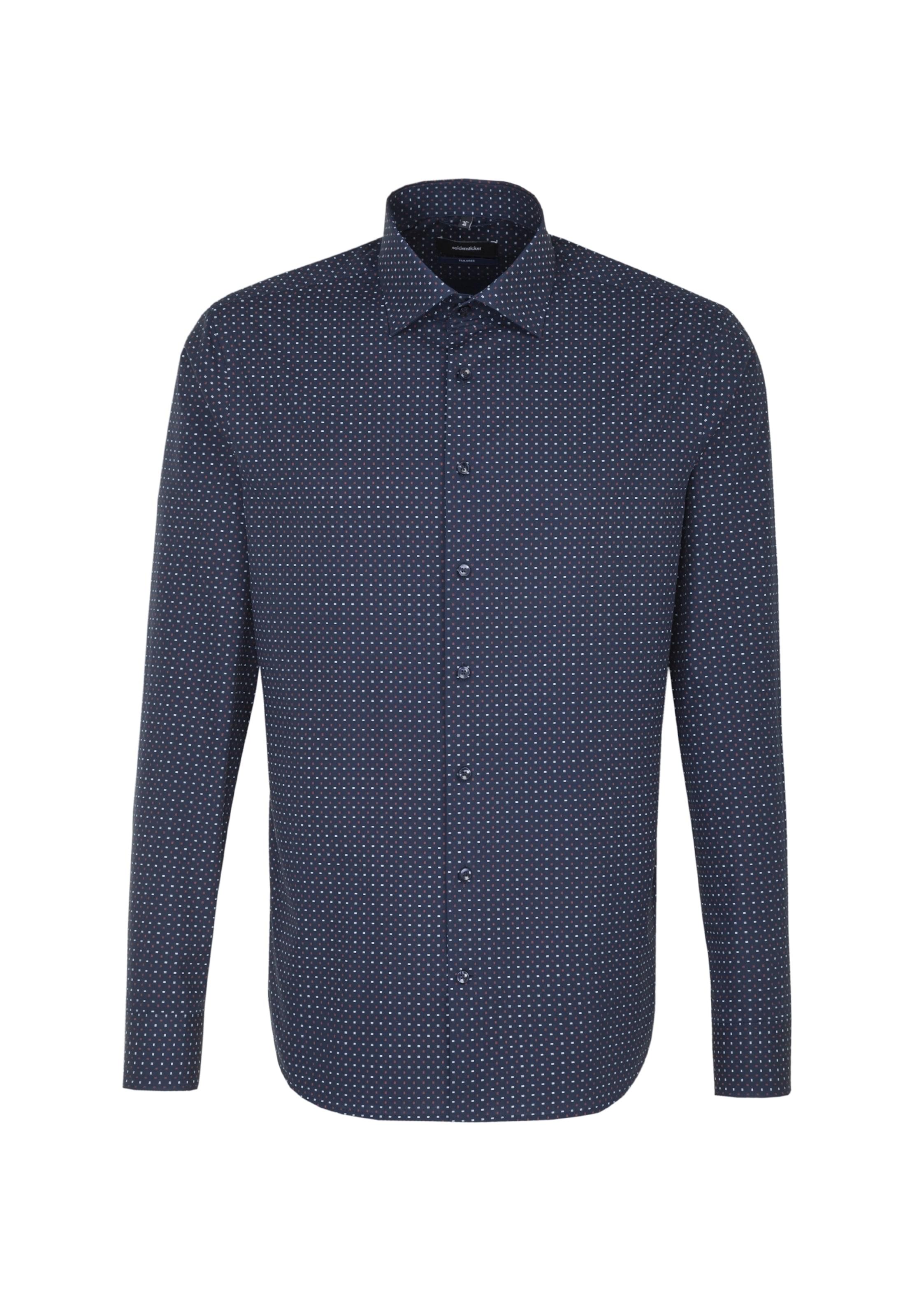 In Hemd NachtblauPastellrot 'tailored' Seidensticker Perlweiß kXiuPZ