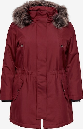 ONLY Carmakoma Wintermantel 'carIRENA PARKA COAT 19' in de kleur Wijnrood, Productweergave