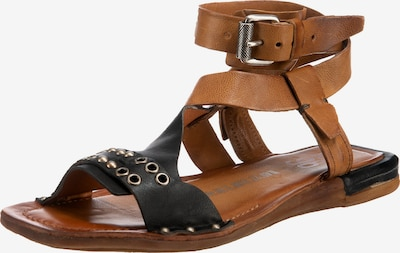 A.S.98 Klassische Sandalen in braun / schwarz, Produktansicht