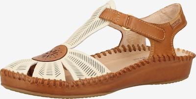 PIKOLINOS Sandale in beige / chamois: Frontalansicht