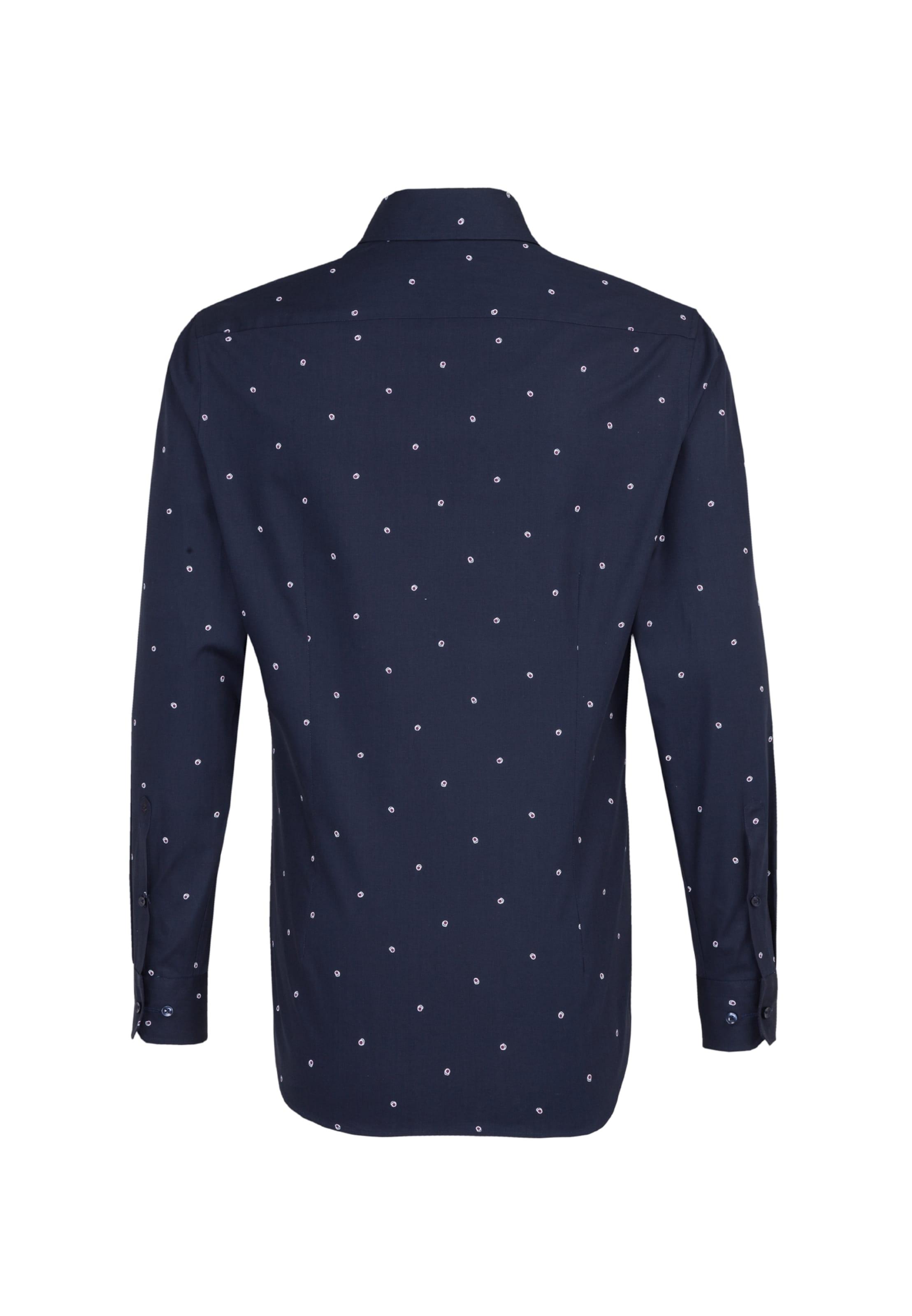 Seidensticker Hemd In Hemd Seidensticker KobaltblauWeiß In j5q4ALR3