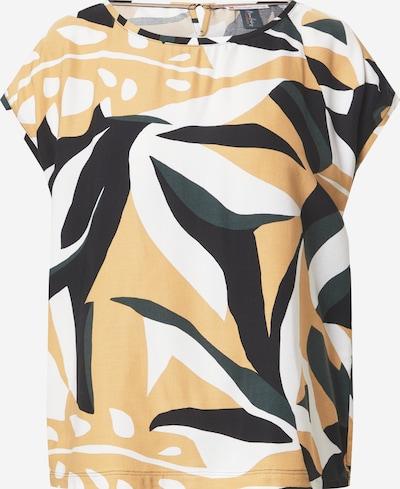 STREET ONE Bluse in gold / schwarz / weiß, Produktansicht