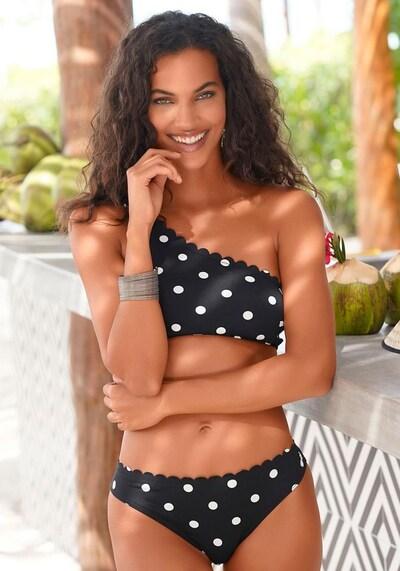 LASCANA Bikini-Hose in schwarz / weiß, Modelansicht